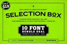 Selection Box – 10 Font Bundle by Paulo Goode on @creativemarket