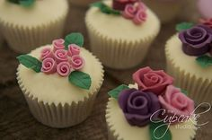 https://flic.kr/p/9oCTTN   Rose Garden Cupcakes   Cupcakes with handmade roses and rose buds  www.thecupcakestudio.co.uk