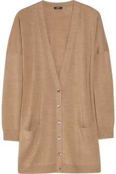 Tan cardigan - to wear with hot pink and white.