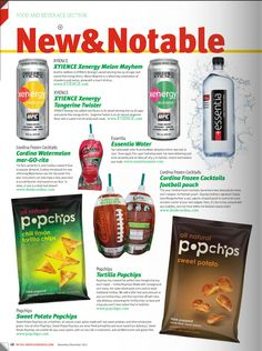 Xenergy Melon Mayhem and Tangerine Twister in the New & Notable section of the Retail Merchandiser Nov./Dec. 2012 issue. #Xyience #EnergyDrink