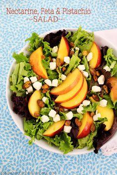 Nectarine, Feta & Pistachio Salad