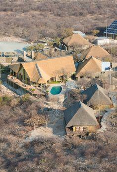 Etosha Heights Safarihoek Lodge in Namibia, Africa. Round House Plans, Resort Plan, Hut House, Safari Holidays, Namibia, African Safari, Africa Travel, Landscape Photography, Beautiful Places