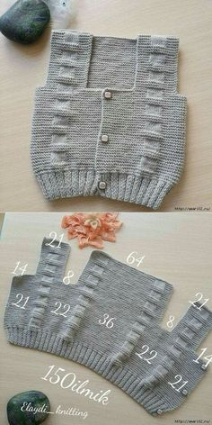 Вот так можно связать детский жилет find and save knitting and crochet schemas simple recipes and other ideas collected with love vests crochet tissue of agujas Easy Knitting Patterns, Knitting For Kids, Knitting Stitches, Free Knitting, Baby Knitting, Easy Patterns, Knitting Machine, Knitting Ideas, Baby Cardigan