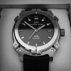100% manufactured in Switzerland .... MAURON MUSY Classic Steel Armure ... Calibre 39 automatic ... nO-Ring® technology. The only watch featuring direct-seal gasket-free mechanical watertightness.
