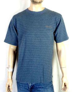 1f15b3d120 vtg 80s 90s Quicksilver Gray/Green Striped Spell Out Surf T-Shirt Skate USA  sz M