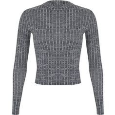 Miss Selfridge Petites Grey Rib Polo Top (72 RON) ❤ liked on Polyvore featuring tops, sweaters, grey, shirts, petite, polo sweater, long-sleeve shirt, gray polo shirt, grey turtleneck sweater and polo shirts