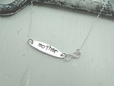 Ketter MOTHER Infinity Endless Message Silber von EinzigARTigeS auf DaWanda.com