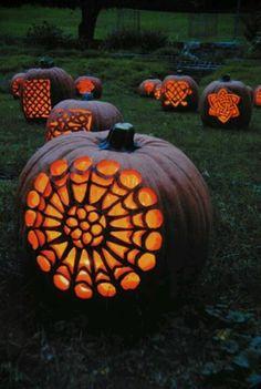 Celtic designed Jack-o-Lanterns!