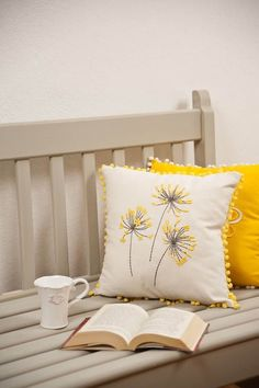 Sure we have all heard of foam memory beds but have you heard about foam memory pillows? These pillows are … Sewing Pillows, Diy Pillows, Decorative Pillows, Throw Pillows, Cushion Embroidery, Learn Embroidery, Cushion Cover Designs, Pillow Cover Design, Diy Pillow Covers