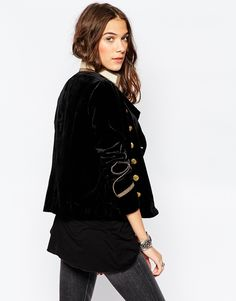 Style Crush: Velvet Military Jacket by PeopleandStyles #whattowear #styleideas