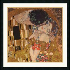 Gustav Klimt 'The Kiss (detail), 1907' Framed Art Print