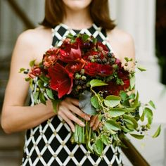 Humans with Bouquets: Bouquet of amaryllis, blackberry, ranunculus, anemone and rose by Kiana Underwood