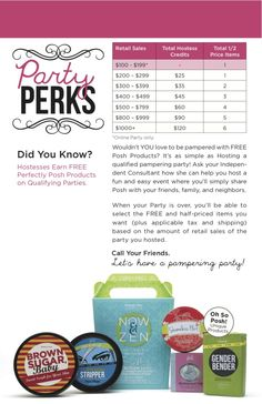 Look at all the FREE Posh product you can get when you host a party!  #perfectly #posh  http://www.perfectlyposh.us/NONIEPOSH/