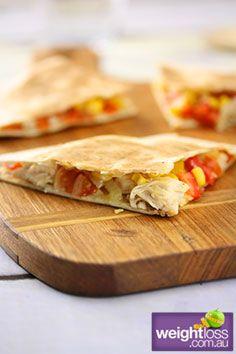 Chicken Quesadillas. #HealthyRecipes #DietRecipes #WeightLossRecipes weightloss.com.au