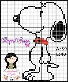 Quelsfs Pampering Workshop: Snoopy Graphics for Cross Stitch Cross Stitch Designs, Cross Stitch Patterns, Unicorn Cross Stitch Pattern, Cross Stitch Boards, Snoopy Love, Crochet Diagram, Graph Crochet, Beaded Cross Stitch, Loom Patterns