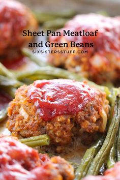 I love this Sheet Pan Meatloaf and Green Beans recipe because it only takes 45 minutes, start to finish, and dinner is made. Regular meatloaf takes over an hour to cook, so this is the faster option. Cleaning up is also a breeze because it's only one pan! Beef Recipes For Dinner, Cooking Recipes, Easy Recipes, One Pot Meals, Supper Meals, Sheet Pan Suppers, Recipe Sheets, Quick Meals, Weeknight Meals