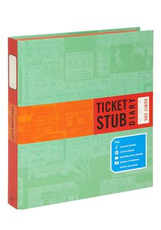 Ticket Stub Diary. If you have a box full of ticket stubs that could use some organizational attention, this is the perfect scrapbook for you!  #modcloth