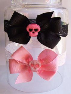 Felt Skull Baby Headband