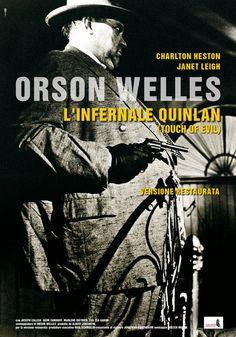 """""""l'infernale Quinlan"""", regia Orson Welles, distribuito da Sacher Distribuzione, design internozero comunicazione"""