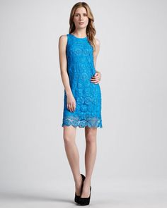 Madison Marcus Relaxed Lace Tank Dress - Neiman Marcus