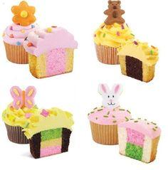 Cupcakes com duas cores