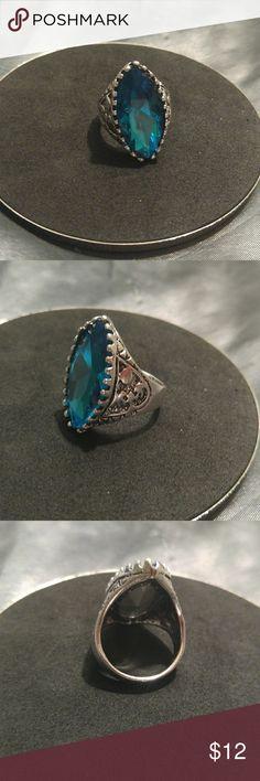 I just added this listing on Poshmark: Vintage Blue Topaz Stone Steel ring sz9. #shopmycloset #poshmark #fashion #shopping #style #forsale #Jewelry