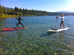 Paddle Board Yoga on Lake Tahoe will get you balanced!