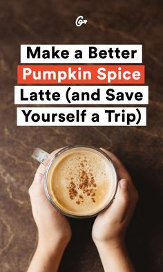 DIY that PSL. #pumpkin #spice #latte #recipe https://greatist.com/eat/pumpkin-spice-latte-recipe-to-make-at-home