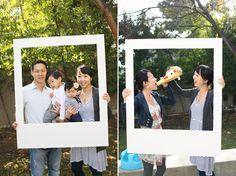 DIY polaroid photo prop - photobooth