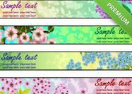 Fresh-floral-banner-wallpaper-pack Floral Banners, Photoshop Brushes, Wallpapers, Fresh, Orange, Personalized Items, Pattern, Patterns, Wallpaper