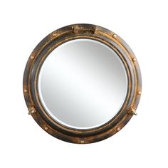 Sea View Wall Mirror | dotandbo.com. Good for a bathroom or laundry room, a nautical influenced interior or an industrial styled one.