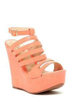 Kayleen by Los Angeles Mikeca Strappy Wedge Sandal