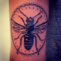 Bee by Karl Wojciechowski/ Bodkin Tattoo 55 Bernard Montreal Qc