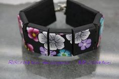 Two part tute - Start here: http://recreation-fimologique.blogspot.ro/2012/09/tuto-bracelet-plaque-partie-1.html (in French)   - click on this pic for part 2. #Polymer #Clay #Tutorials