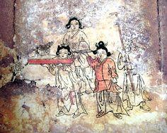 Miryanggobeomnibagikbyeokhwamyo(Bak Ik's ancient tomb with mural in Gobeop-ri, Miryang)  Historic Sites   459. Early Joseon Period. Bak Ik was a civil official who lived from 1332-1398.