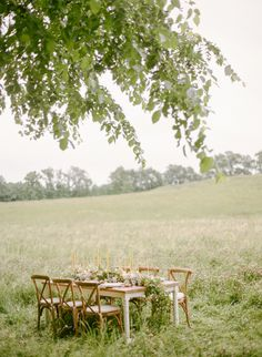 Spring meadow wedding inspiration | Wedding Sparrow ((would be a nice bridal shower))