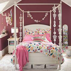 Beautiful Pink Teen Room for Girls
