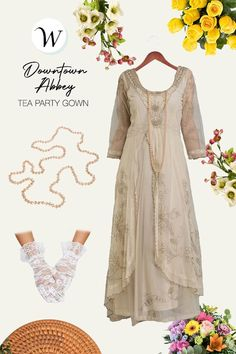 Lovely and inspiring, this Edwardian romance gown is made with dramatic embroidery and layered skirts. Light and flowing, the Edwardian Romance Gown includes a delicate embroidered neckline and sprigs of floral ivy embroidery overlay. Gathered softly at the waist, your Edwardian romance will be fulfilled.