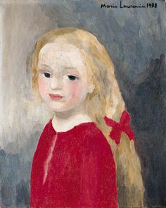 Blonde Girl in Red, Marie Laurencin. French (1885 - 1956)