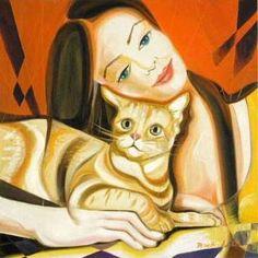Anita Peko - Woman with cat, 2001