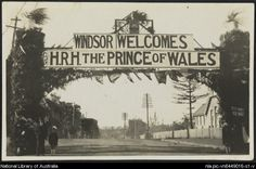 Recto of Windsor welcomes H. the Prince of Wales, Australia, First Fleet, Slums, Roaring Twenties, Prince Of Wales, British Monarchy, Beautiful Buildings, Wall Street, Old Photos, New Zealand