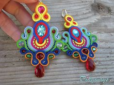 Ridgways / Color explosion  #nausnice #earrings #slovenskydizajn #handmadepodnikanie #handmade #fashion