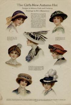 1913 ladies' hat fashions, love them all!