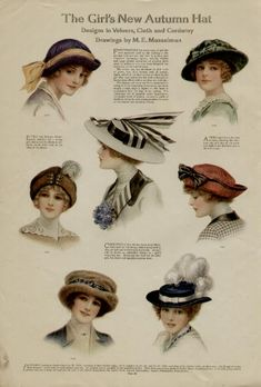 1913 ladies' hat fashions, love them all!