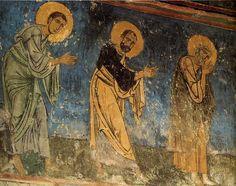 Апостолы детали фрески Евхаристия
