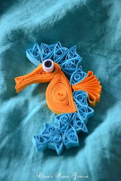 Clara's paper garden: missing the seaside - Quilling Paper Crafts Paper Quilling Cards, Arte Quilling, Quilled Paper Art, Paper Quilling Designs, Quilling Craft, Quilling Patterns, Origami Paper, Diy Paper, Paper Crafts