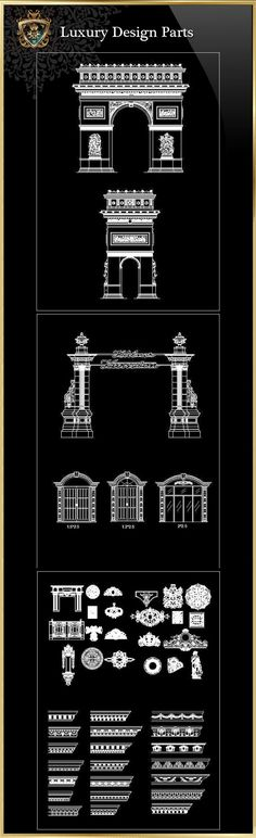 Royal Architecture Design Block 4  CAD Design | Free CAD Blocks ,Drawings,Details