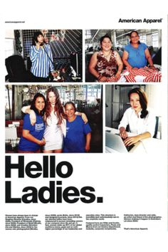 The ad, via WWD. (Discussed in episode 59 of the Pop Fashion podcast)