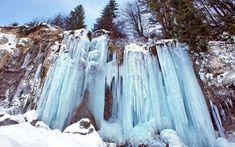 Cascada Pisoaia este spectaculoasă şi iarna Tourist Places, Bulgaria, Beautiful Places, Country, Outdoor, Beauty, Twitter, People, Waterfalls