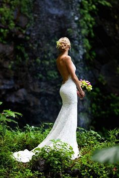 Katie May launched her bridal collection in 2012, after designing her younger sister's wedding gown 'Princeville' – isn't it lovely? :: Beautiful Backless Wedding Dresses By Katie May